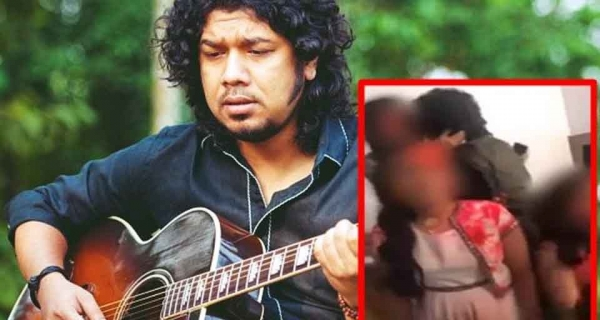 FIR filed against singer Papon for Kissing this girl Image