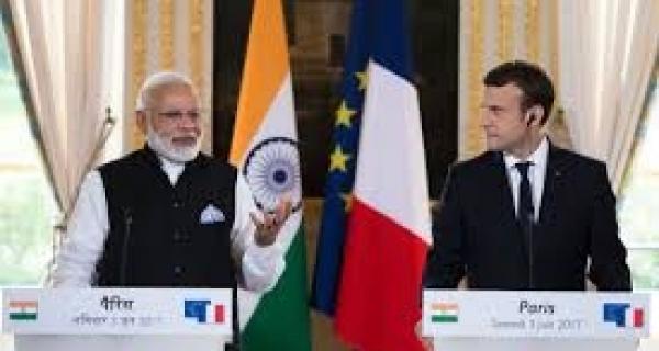 Emmanuel Macron's Visit To India. Image