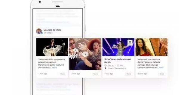 Google is allowing musicians to post updates about themselves directly in Google Search. Image